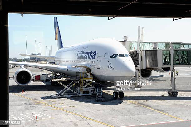 Lufthansa Airbus 380-800 Parking Position O. R. Tambo International Airport