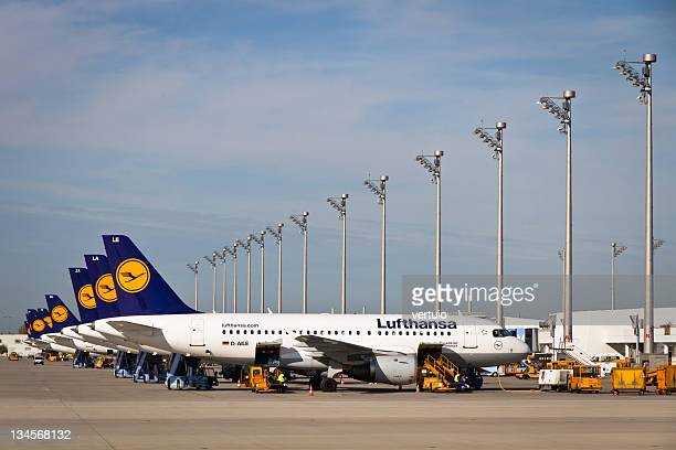 Lufthansa Airplanes on Munich Airport