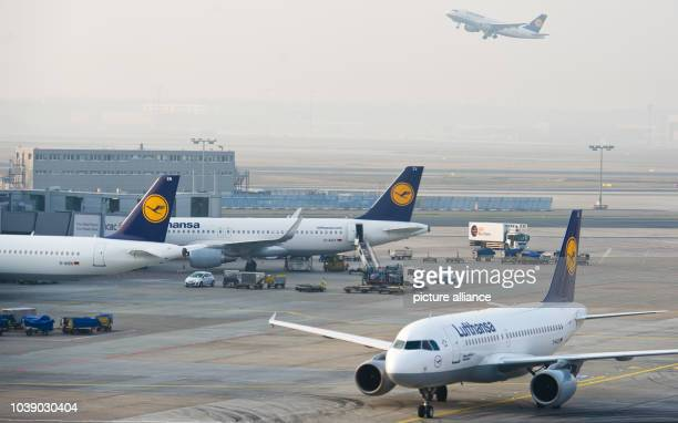 Lufthansa airplanes parked and taxying early in the morning at the airport inFrankfurt am Main, Germany, 19 March 2015. Already on Wednesday, 18...