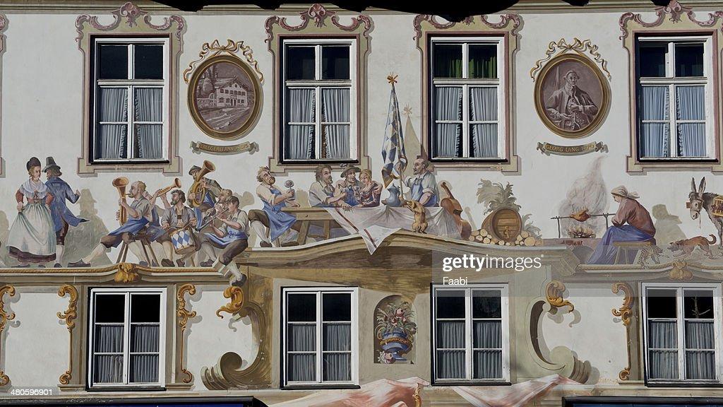 Luftmalerei in Oberammergau : Stock Photo
