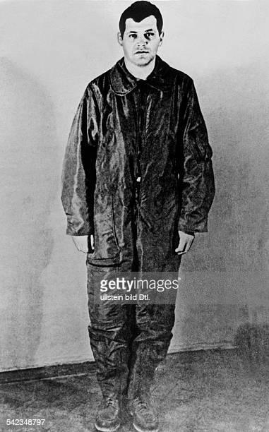 Luftzwischwenfall U-2 Francis Gary Powers, Pilot des über derUdSSR abgeschossenen US - FernaufklärersU 2, aufgenommen in Moskau- 1960