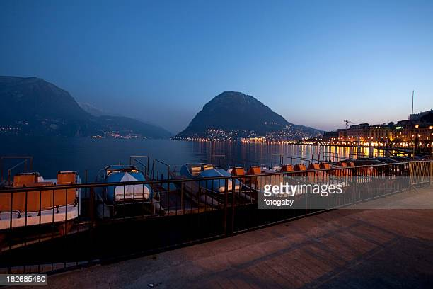 Lugano bei Nacht
