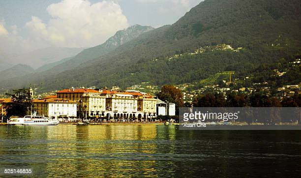 lugano lake - xuan che stock pictures, royalty-free photos & images