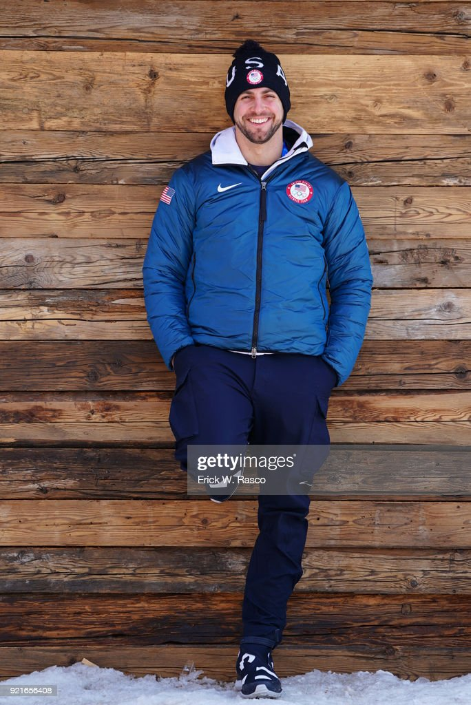 Portrait of USA Chris Mazdzer posing during photo shoot on Day 9 at Yong Pyong Resort. Mazdzer won silver in Men's Luge Singles. PyeongChang-gun, South Korea 2/18/2018 Erick W. Rasco X161684 TK1 )
