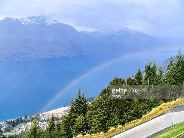 Luge over the rainbow, Skyline, Queenstown, New Zealand