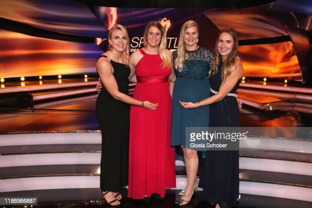 Luger Annika Drazek, Natalie Geisenberger, Dajana Eitberger, Jaqueline Loelling during the 'Sportler des Jahres 2019' Gala at Kurhaus Baden-Baden on...