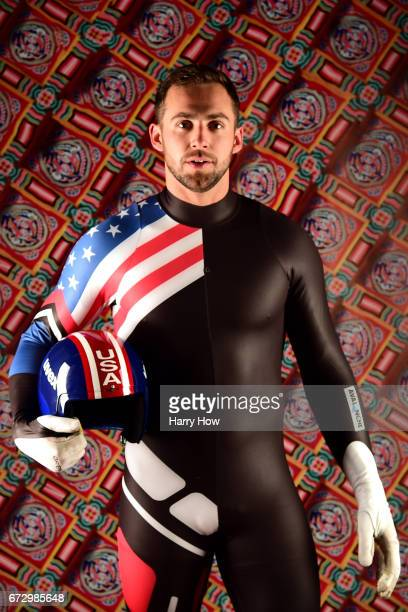 Luger Chris Mazdzer poses for a portrait during the Team USA PyeongChang 2018 Winter Olympics portraits on April 25 2017 in West Hollywood California