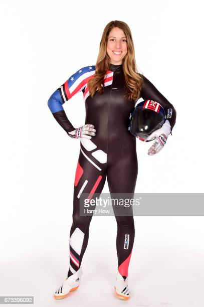 Luger Erin Hamlin poses for a portrait during the Team USA PyeongChang 2018 Winter Olympics portraits on April 26 2017 in West Hollywood California