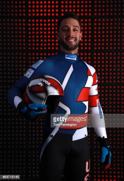 Luger Jayson Terdiman poses for a portrait during the Team USA Media Summit ahead of the PyeongChang 2018 Olympic Winter Games on September 25 2017...