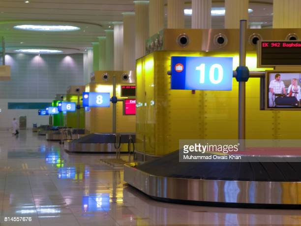 Luggage carousel at Terminal 3, Dubai Airport