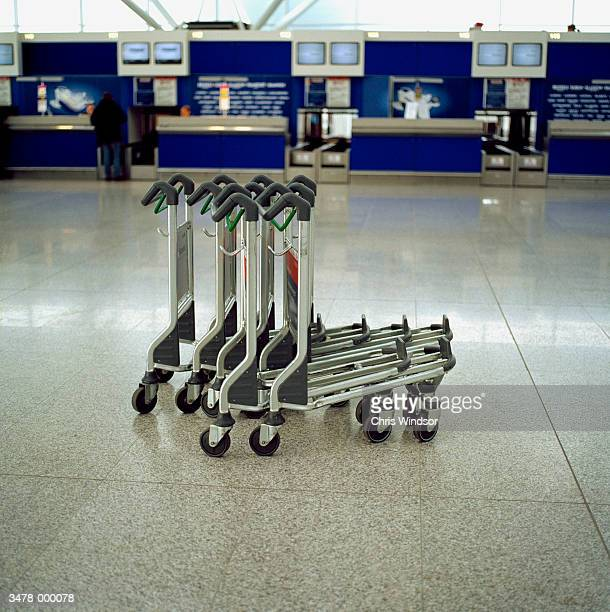 Luggage Carts in Airport