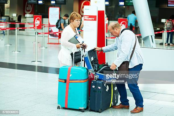 Luggage check before check-in