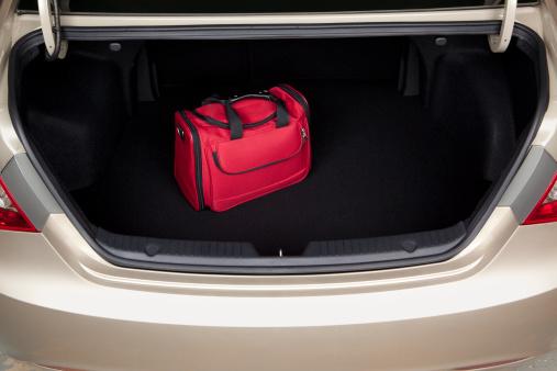 Luggage in Car Trunk 184835075