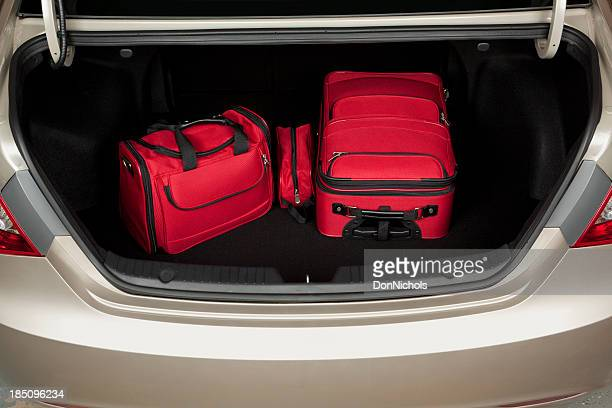 Luggage in Trunk of Car