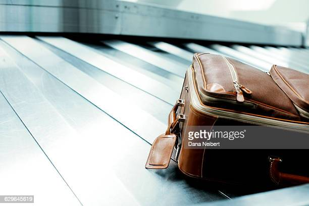 Luggage on the baggage carousel