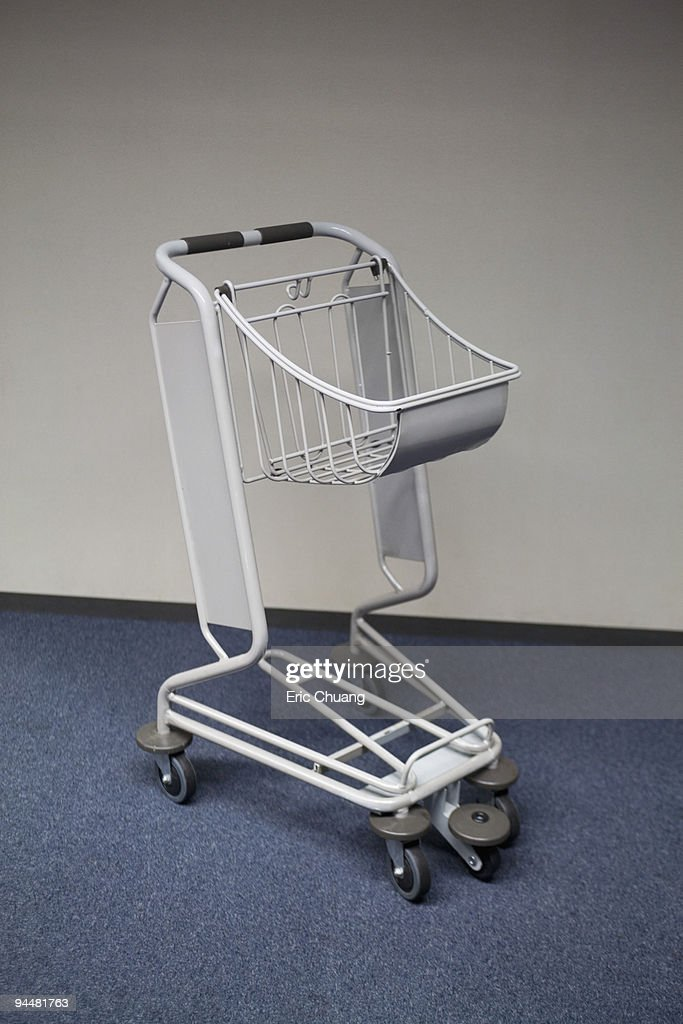 Luggage or shopping cart : Stock Photo