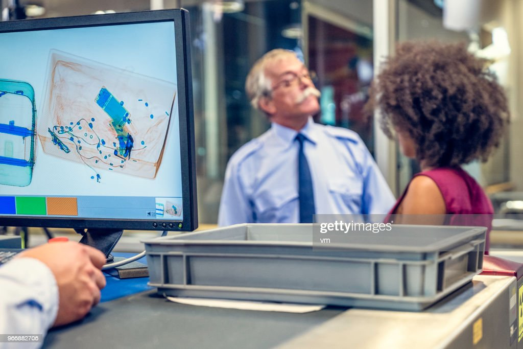 Luggage Scanner At The Airport Stock Photo - Getty Images