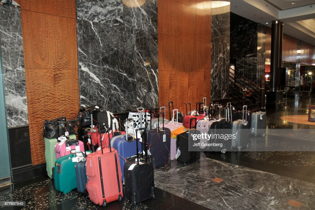 Luggage Storage In The Lobby At Millennium Broadway Hotel New York. : News  Photo