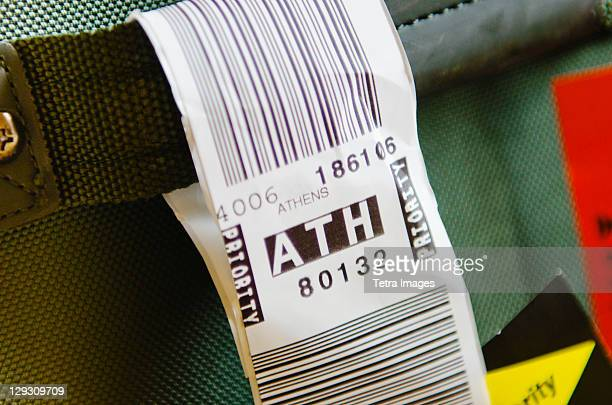 Luggage tag for Athens