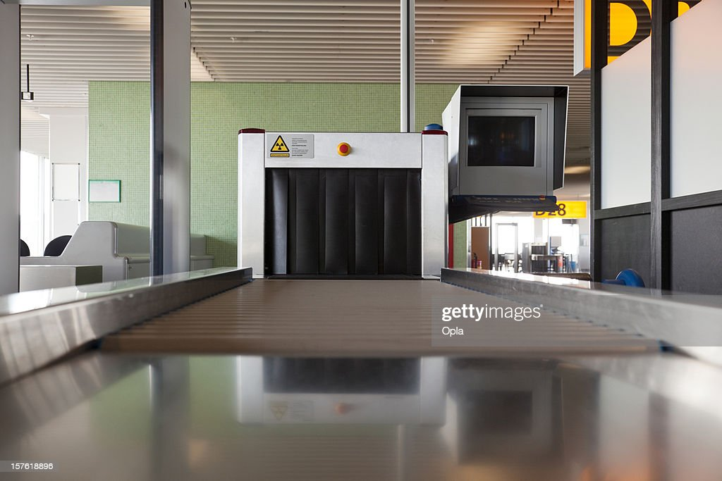 Luggage x-ray machine : Stock Photo