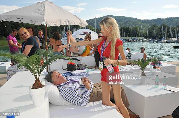 Lugner Richard Entrepreneur Austria with Girlfriend Anastasia Sokol