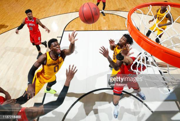 Luguentz Dort of the Arizona State Sun Devils shoots the ball during the second half against the St John's Red Storm in the First Four of the 2019...