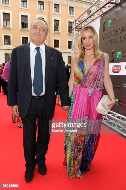 Luigi Abete and Desire Petrini attend the 'David Di Donatello' movie awards at the Auditorium Conciliazione on May 7 2010 in Rome Italy