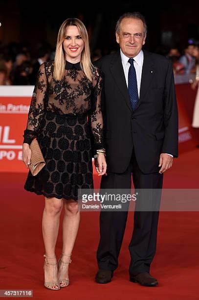 Luigi Abete and Desiree Colapietro Petrini attend the Rome Film Festival Opening and 'Soap Opera' Red Carpet during the 9th Rome Film Festival at...