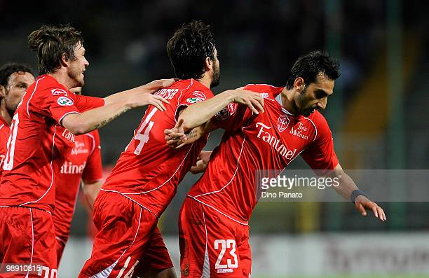 Luigi Andrea Della Rocca of Triestina celebrates after scoring his first goal during the Serie B match between US Triestina Calcio and Reggina Calcio...