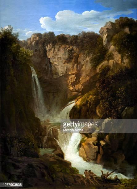 Luigi Basiletti . 1780-1859. The Tivoli waterfall. 1803-1810. Oil painting on canvas. Cm 133 x 96.5.