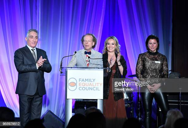 Luigi Caiola Bruce Cohen Primavera Salva and Sam Lippitt attend Family Equality Council's Night At The Pier at Pier 60 on May 7 2018 in New York City