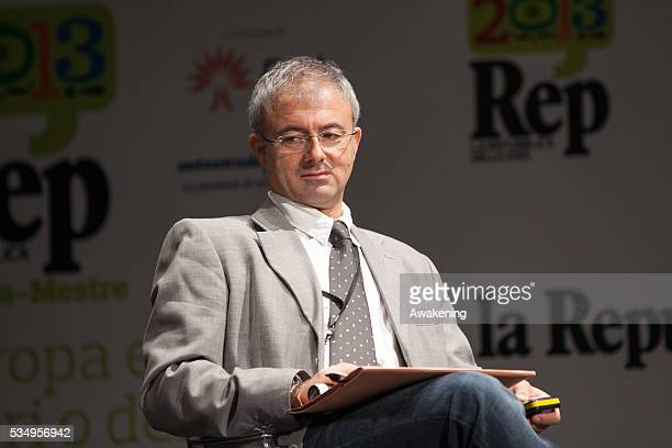 Luigi Ceccarini at the 'Repubblica delle idee' festival organized by the Italian newspaper 'Repubblica' in Mestre