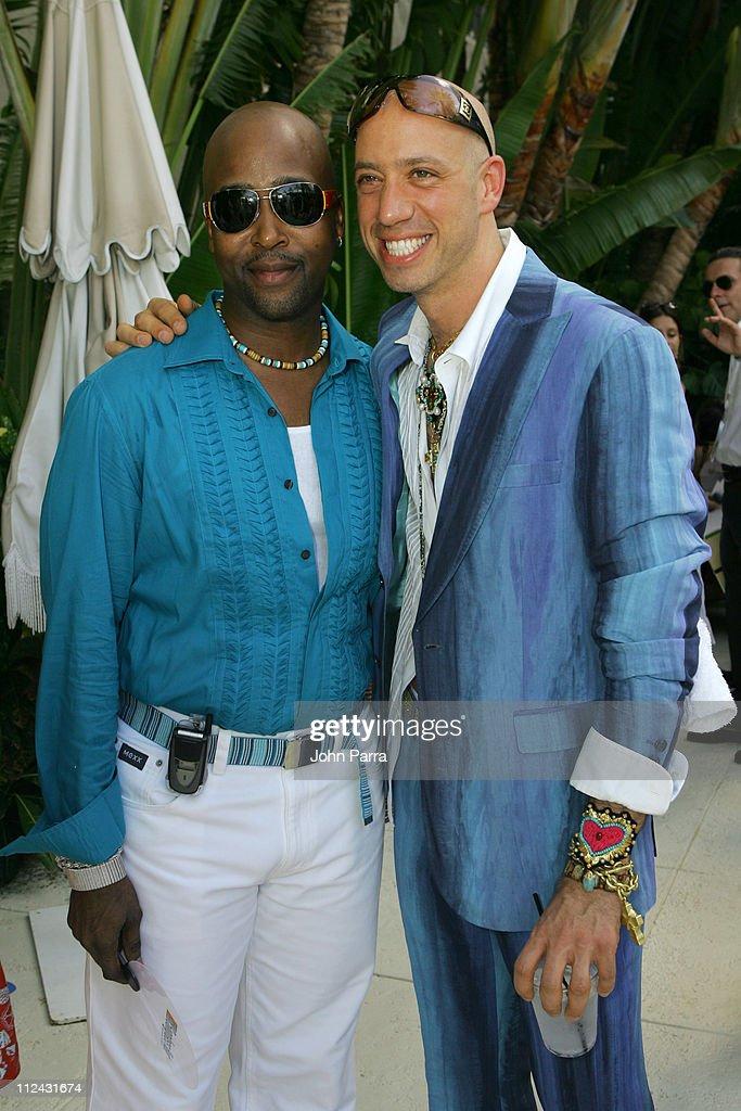 Luigi Champion in Prada sunglasses with Robert Verdi in Chanel sunglasses