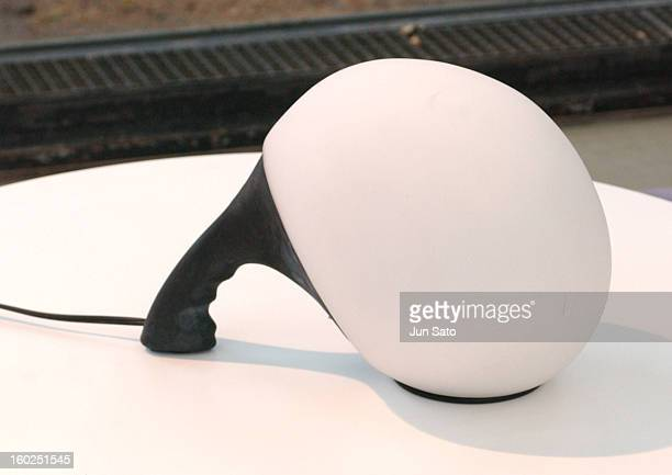 Luigi Colani Design Bio Brain Yamagiwa Lamp during 50 Years Luigi Colani 'Futurama' Exhibition at Nancyhalle in Karlsruhe Germany