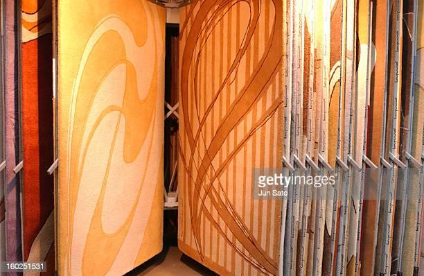 Luigi Colani Design Carpets for Turkas 2004 during 50 Years Luigi Colani 'Futurama' Exhibition at Nancyhalle in Karlsruhe Germany