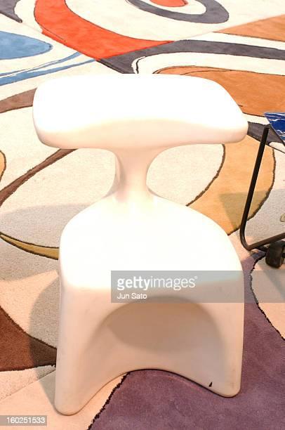 Luigi Colani Design Chair 1968 during 50 Years Luigi Colani 'Futurama' Exhibition at Nancyhalle in Karlsruhe Germany