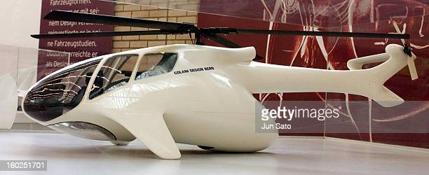 Luigi Colani Design Flying Proto Type Kawasaki MBB 'Tombo' Only Perfectly Streamlined Helicopter in the 8 Degree Tited Lead to Eurocopter 1977