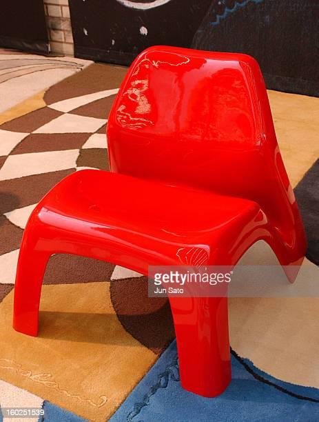 Luigi Colani Design Garden Chair 1970 during 50 Years Luigi Colani 'Futurama' Exhibition at Nancyhalle in Karlsruhe Germany