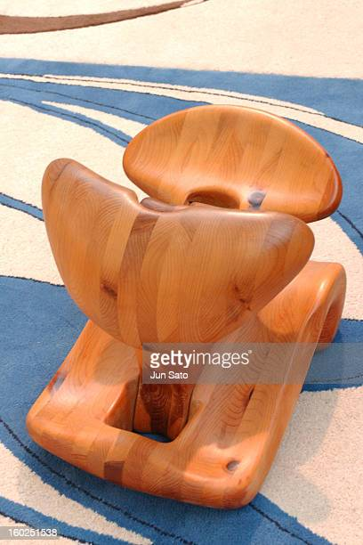 Luigi Colani Design Meditation Chair 1972 during 50 Years Luigi Colani 'Futurama' Exhibition at Nancyhalle in Karlsruhe Germany