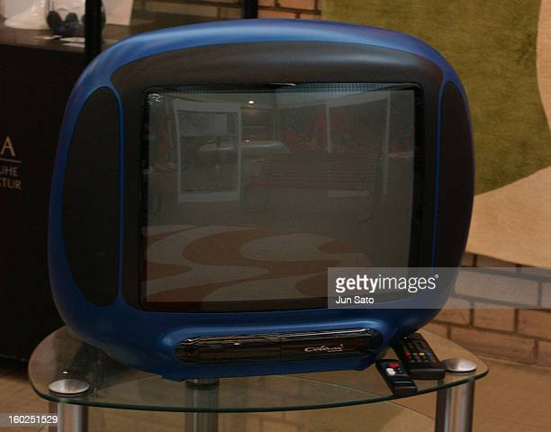 Luigi Colani Design RFT TV during 50 Years Luigi Colani 'Futurama' Exhibition at Nancyhalle in Karlsruhe Germany