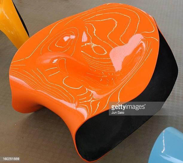 Luigi Colani Design Super Relax Chair 2004 during 50 Years Luigi Colani 'Futurama' Exhibition at Nancyhalle in Karlsruhe Germany
