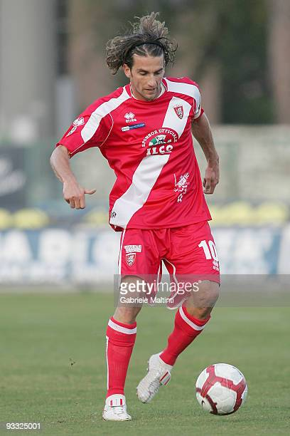 Luigi Consonni of US Grosseto Calcio in action during the Serie B match between Grosseto and Salernitana at Stadio Olimpico on November 21 2009 in...