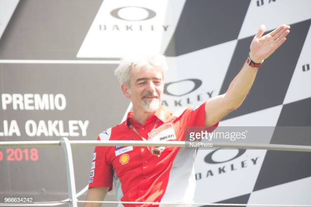 Luigi Dall'Igna podium winner during Race MotoGP at the Mugello International Cuircuit for the sixth round of MotoGP World Championship Gran Premio...