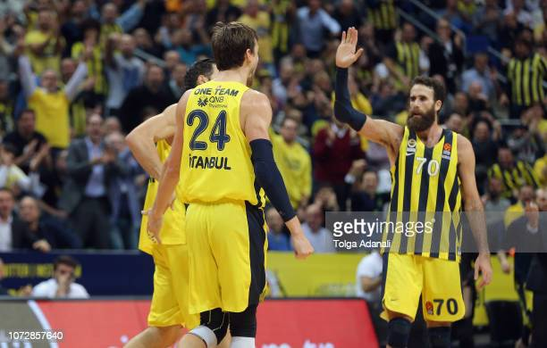 Luigi Datome #70 of Fenerbahce Istanbul in action during the 2018/2019 Turkish Airlines EuroLeague Regular Season Round 12 game between Fenerbahce...