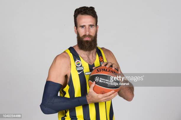 Luigi Datome #70 of Fenerbahce Istanbul poses during the Fenerbahce Istanbul 2018/2019 Turkish Airlines EuroLeague Media Day at Ulker Sports Arena on...