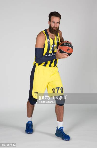 Luigi Datome #70 poses during Fenerbahce Dogus Istanbul 2017/2018 Turkish Airlines EuroLeague Media Day at Ulker Sports Arena on October 2 2017 in...