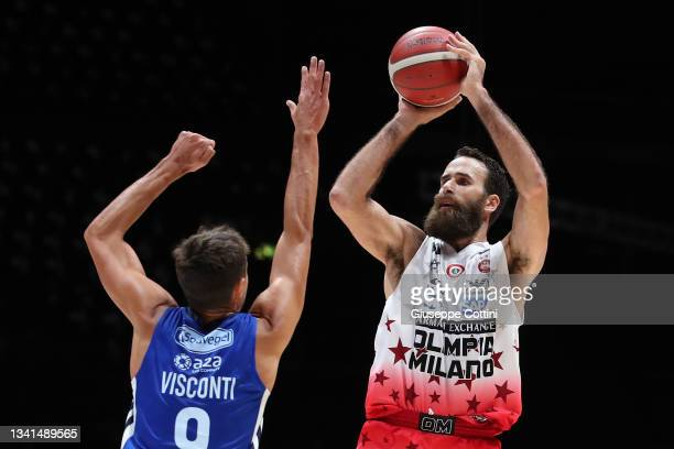 Luigi Datome of AX Armani Exchange Milan in action during the LBA Discovery+ Supercup Semi-final match between Happy Casa Brindisi and AX Armani...