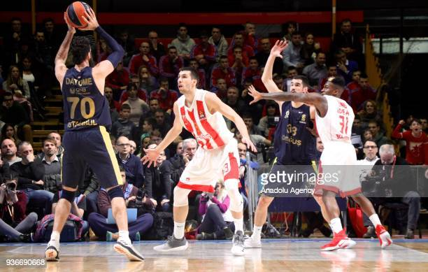 Luigi Datome of Fenerbahce Dogus in action against during the Turkish Airlines Euroleague week 28 basketball match between KK Crvena Zvezda and...