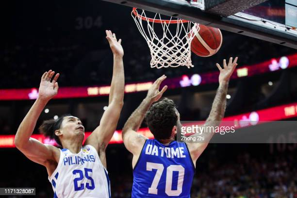 Luigi Datome of the Italy National Team in action against#25 Japeth Aguilar of the Philippines National Team during the 1st round of 2019 FIBA World...