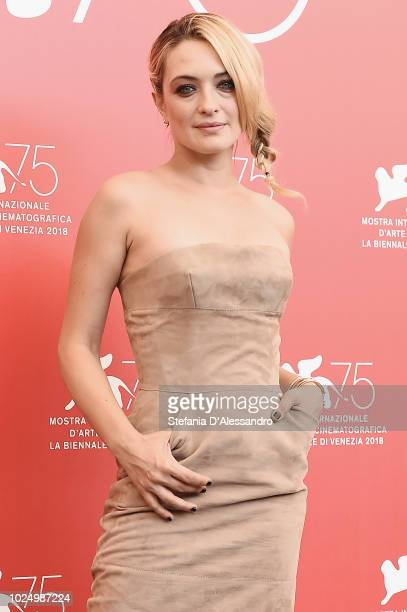Luigi De Laurentis jury member Carolina Crescentini attends attends the Jury photocall during the 75th Venice Film Festival at Sala Casino on August...